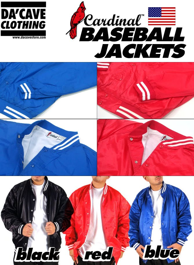 Plain Baseball Jackets now here in Singapore | Da'Cave Store Singapore