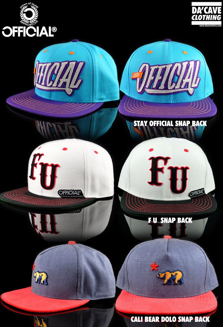 We just received a ton of dope Snap back hats from our favorite Cali brand  OFFICIAL. They really outdid themselves with these batch of snapback hats. 19ec410225fb