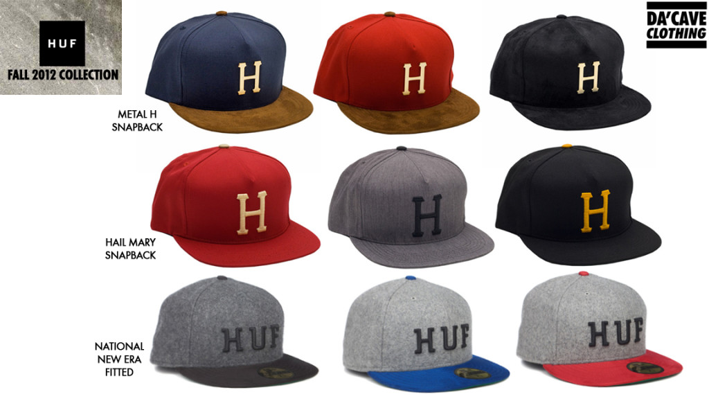 1dff0c16e29 HUF Fall 2012 fitted and snapbacks