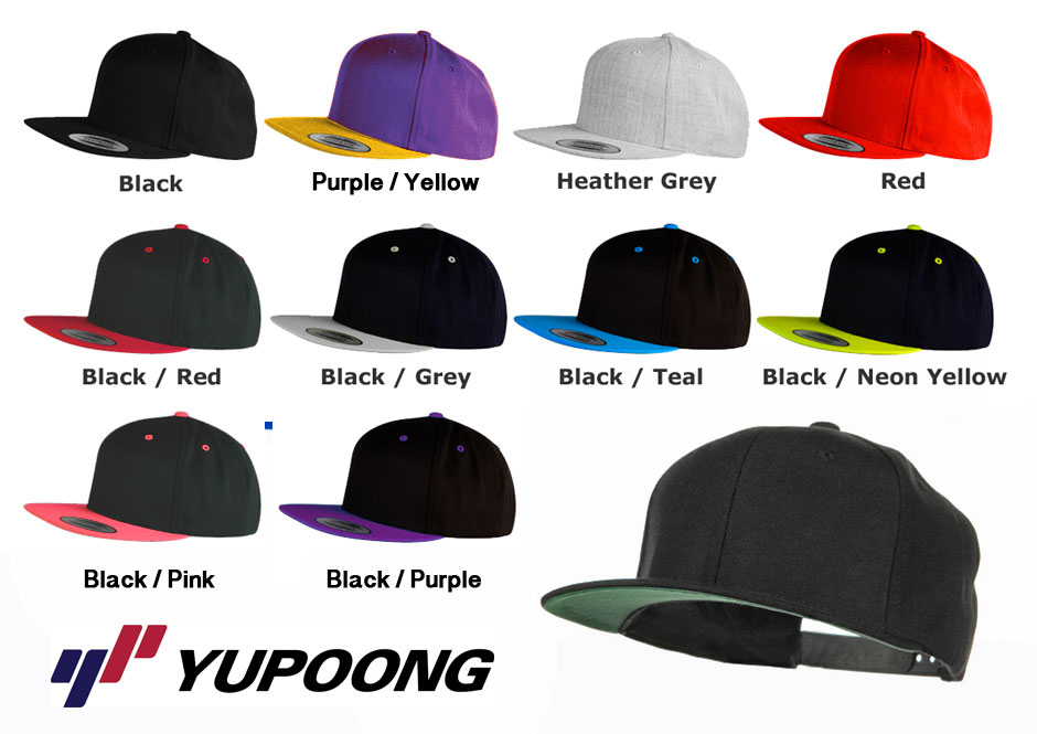 60012785792 YUPOONG SNAPBACKS – Yupoong Classic Snap Back Caps are premium
