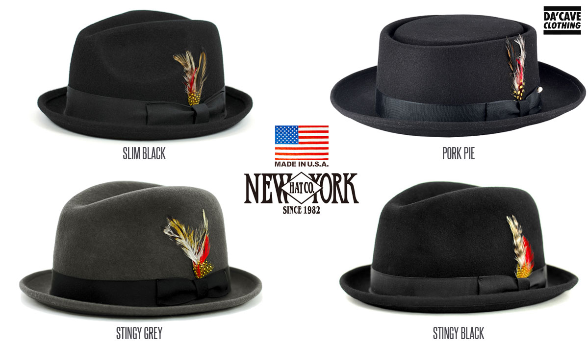 b6c61150b New York hat Co Fedoras and Pork pie hat Restocked | Da'Cave Store ...