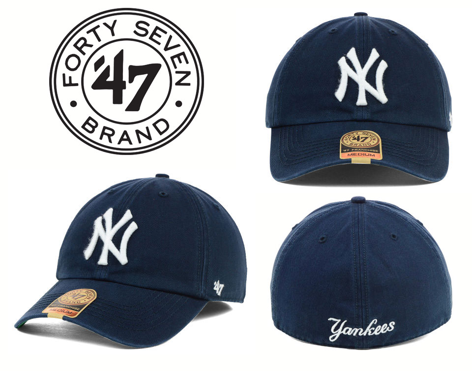 9c03a71822c 47 Brand curved brim Baseball Caps New York Yankees MLB