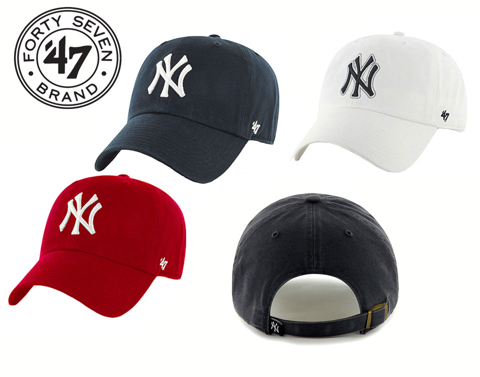 47 Brand curved brim Baseball Caps New York Yankees MLB  0a522674ce1