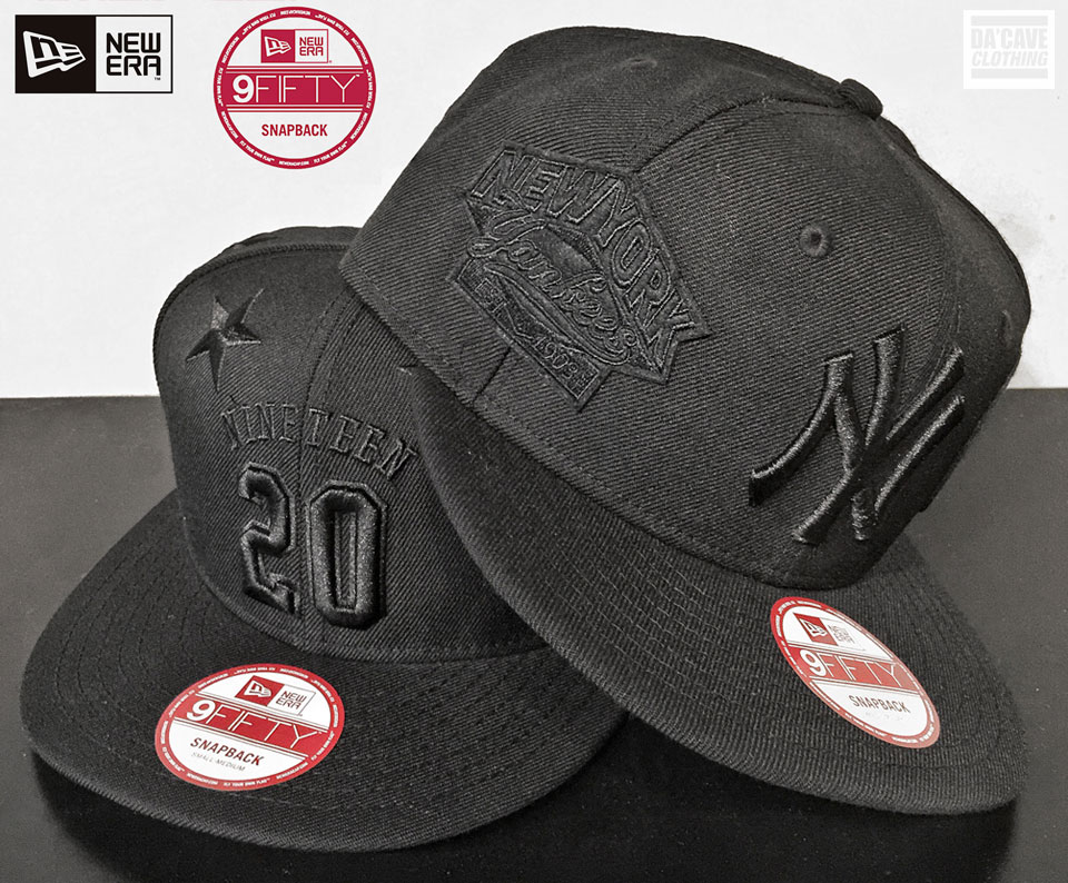 Black on Black embroidery New Era Co 9fifty snap backs.  f617be5c7b8