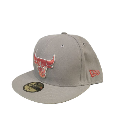f68aaed4baf New Era Chicago Bulls Grey 59fifty Fitted Cap
