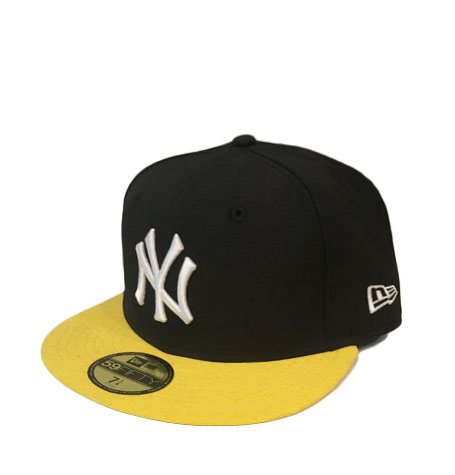 New Era NY Yankees Black Yellow 59fifty Fitted Cap  31f10a233165