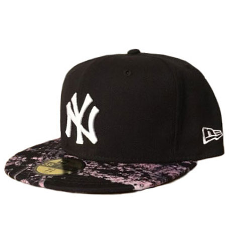 3849e607a41d3 New Era NY Yankees Sakura Floral Brim 59fifty Fitted Cap