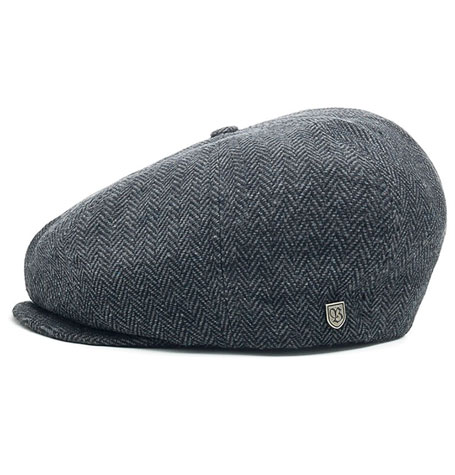 de6e4f8f724 Brixton Brood Grey Black Flat Cap