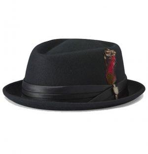 Brixton Stout Pork Pie Black Hat