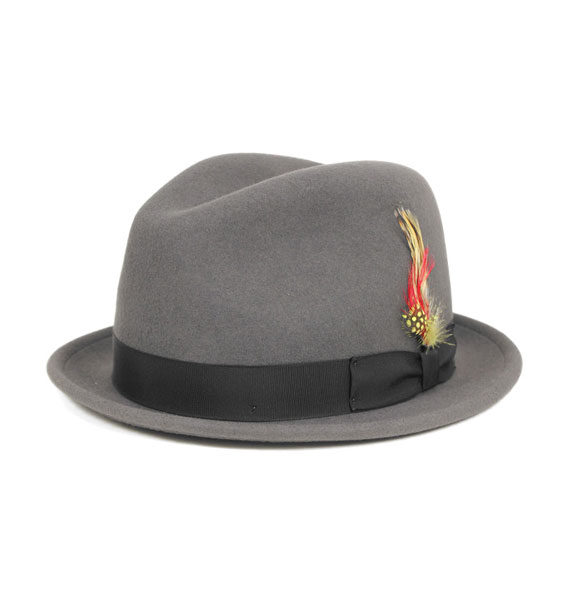 New York Hat Co Stingy Grey Felt Fedora Hat  eb16f34e823