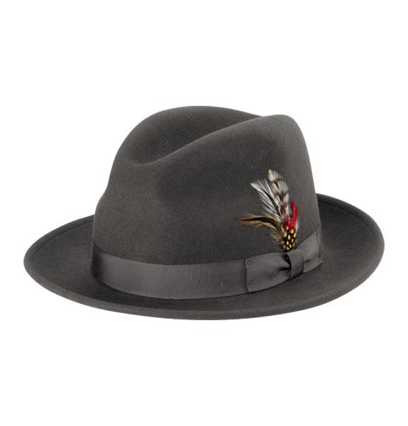 72f097f4736 New York Hat Co. Stingy Black Wide Brim Felt Fedora Hat
