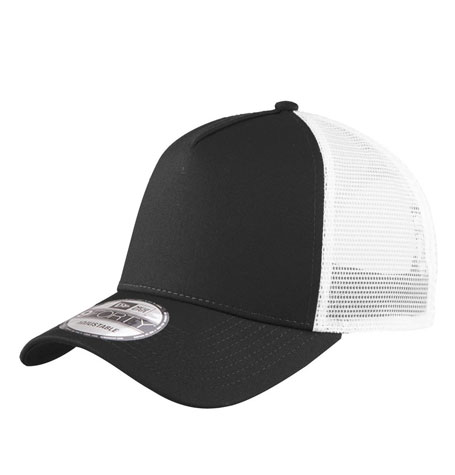 New Era 9forty Black White Trucker curved brim adjustable cap  90f7d361ed6