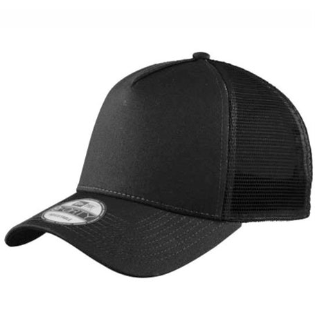 New Era 9forty Blank Black Black Trucker curved brim adjustable cap ... 52c403d7e69