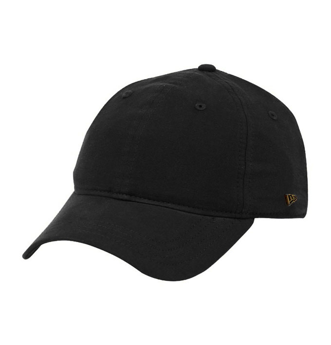 b68f2e8965c New Era Essential Plain Black 9Twenty Strapback Baseball Cap