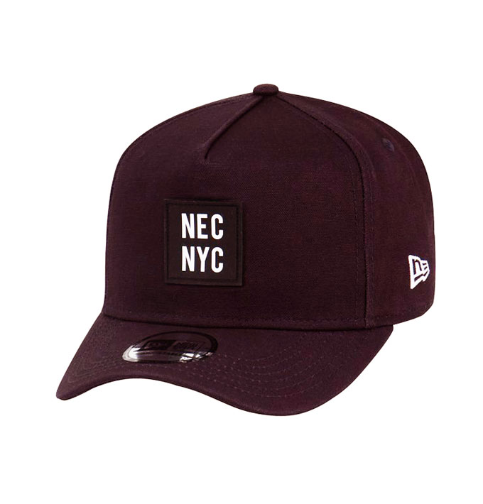 New Era 9fifty Nec Nyc Rubber Duck Maroon Canvas D Frame