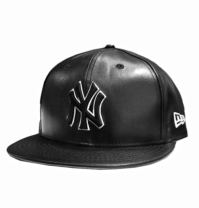 New Era NY Yankees Leather Squad 59Fifty Black Fitted Cap  7673a322d08