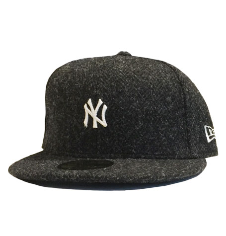 New Era NY Yankees Harris Tweed Heather Grey 59fifty Fitted Cap  05fc39809fe