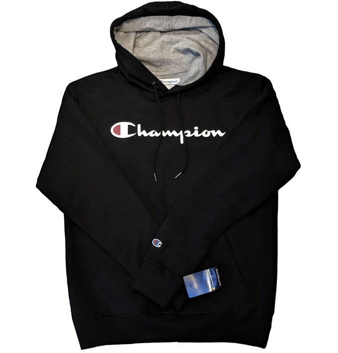 1017ee2ef9c0 Champion USA Powerblend Pullover Hoodie with Script  Champion