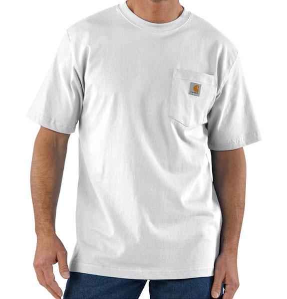 a658bcfa738 Carhatt M Workwear Pocket SS T Shirt White