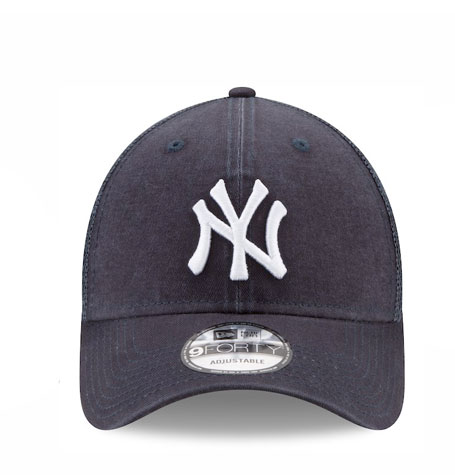 7fb7ba80 New York Yankees New Era Navy Trucker Washed Original Fit 9FORTY ...