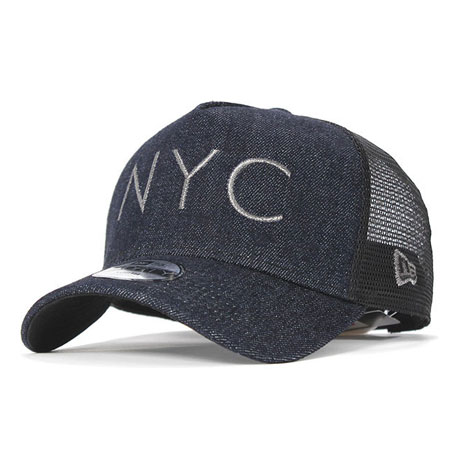 New Era 9FORTY Youth A-FRAME TRUCKER JAPAN DENIM NYC  5da18daa86a