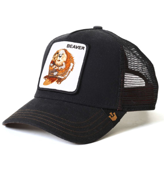 "0d08e466ba423 Goorin Bros Animal Farm ""Beaver"" Black Trucker Cap"