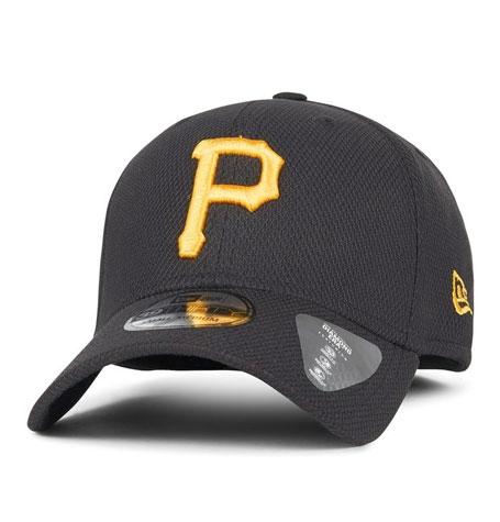 d15b78e9 Pittsburgh Pirates DIAMOND NEW ERA BLACK 39THIRTY STRETCH FIT | Da ...