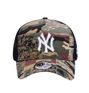 99e11b7e1 New Era New York Yankees Camo Patchwork 9Forty A-Frame Trucker Cap ...