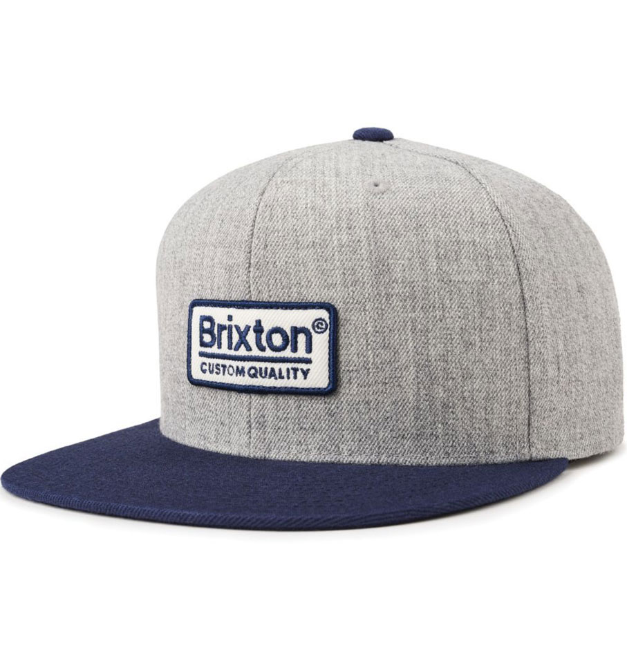 ad8c402d60a BRIXTON PALMER II MP SNAPBACK HAT HEATHER GREY  NAVY