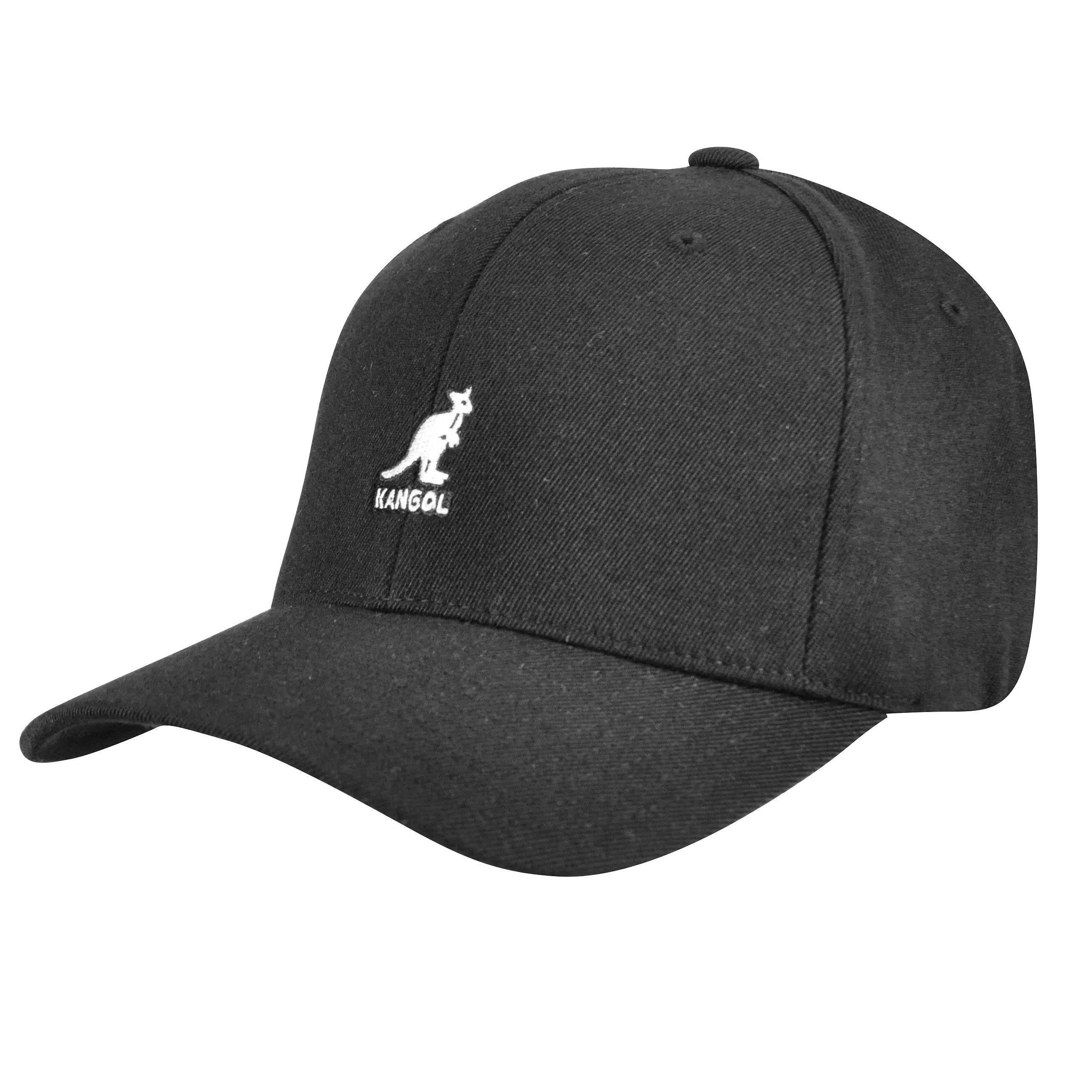 d21590ae621ee9 Kangol Wool Flexfit Baseball Black Cap | Da'Cave Store Singapore