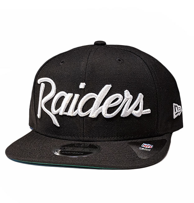 09f45635505 New Era Oakland Raiders Script Black Original Fit 9Fifty Snapback