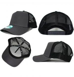 a0923bce0b83b Plain blank caps. New Era 9forty Blank Grey Black Trucker curved brim  adjustable cap