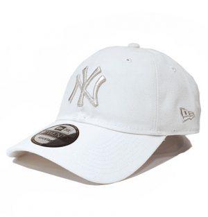 c2c0f9279af New York Yankees. New Era 9Twenty New York Yankees Silver Metallic Logo  White Cap