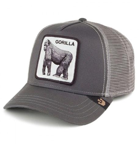 "92d4c0ab29dd56 Goorin Bros Animal Farm ""Gorilla"" King of the Jungle Grey Trucker Cap"