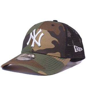 7f418d76a93aed New York Yankees. New Era 9Forty NY Camo Trucker Curved Brim Adjustable Cap