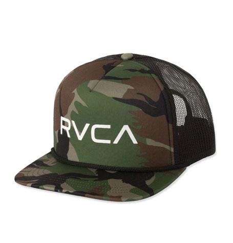 New RVCA Foamy Mens Camo Mesh Snapback Trucker Cap Hat