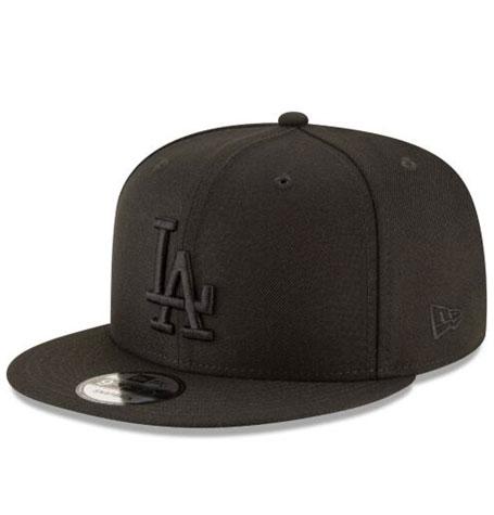 New Era 9Fifty LA Black on Black Snapback