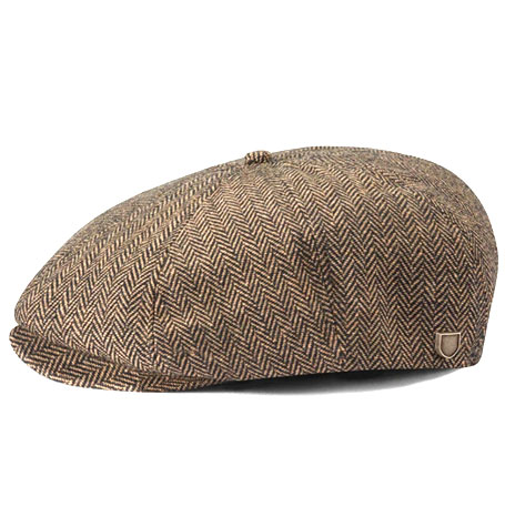 Brixton Brood Brown/Khaki Flat Cap