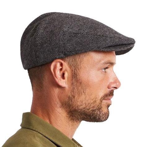 Brixton Hooligan Grey Black Flat Cap