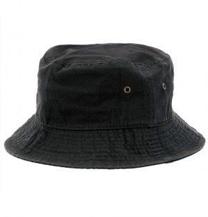Newhattan Plain Black Kids Bucket Hat