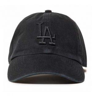 47 Brand Clean Up LA Dodgers Black on Black Cap