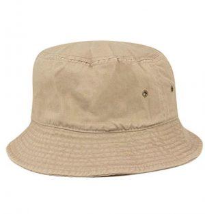 Newhattan Plain Khaki Kids Bucket Hat