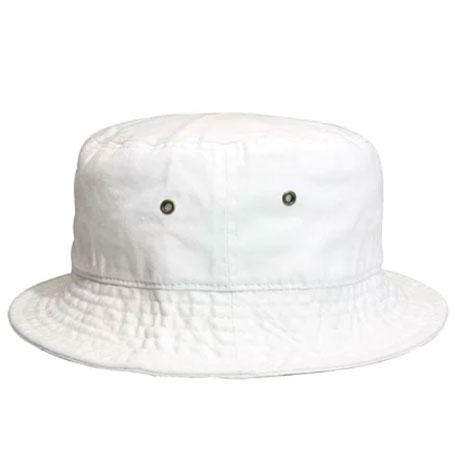 Newhattan Plain White Kids Bucket Hat