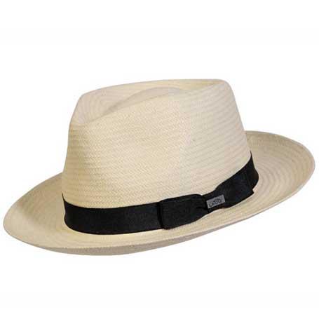 Conner Hats Casablanca Fedora Straw White Hat