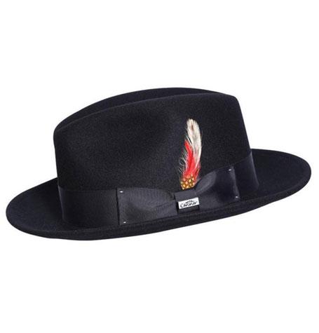 Conner Hats Bad Hombre Black Wool Fedora