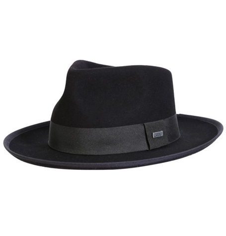Conner Hats Buster Wool Black Fedora