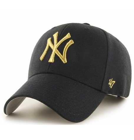 47 Brand MVP NY Yankees Gold Black Baseball Cap