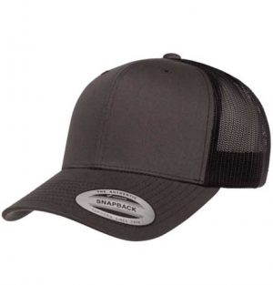 Yupoong Retro Classic Charcoal/Black Trucker Cap