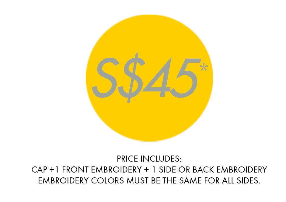 custom cap pricing singapore