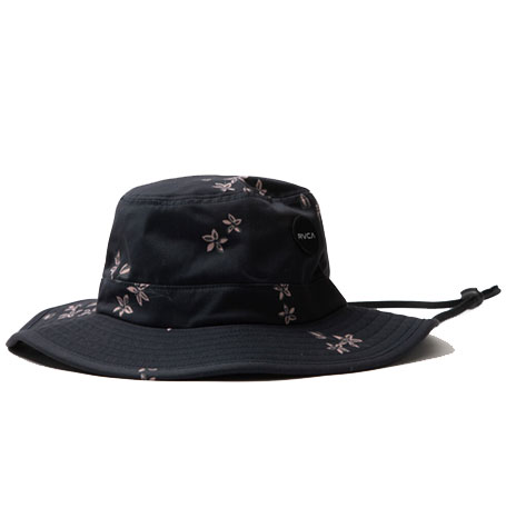 RVCA Floral Black Boonie Hat
